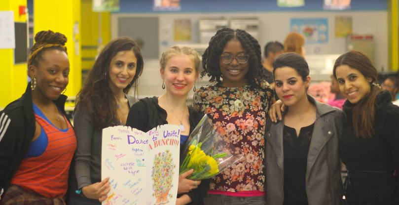 Dance to unite team ( Jenae, emily, Simone, Vaishali and Tal)